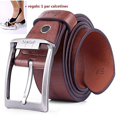 Malloom® Hombres marea retro cuero de la PU cinturón de punta única Negocio Cinturones de hebilla de metal