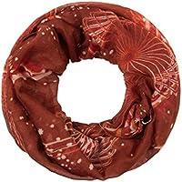 Sciarpa a tubo circolare, foulard da donna leggero e morbido estate primavera autunno inverno loop anello ragazze colorati stola accessorio moderno lifestyle , SCH-814.844.848:rosso SCH-848f