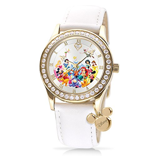 officially-licensed-ultimate-disney-watch-with-gold-plating-swarovskir-crystals-and-a-genuine-diamon