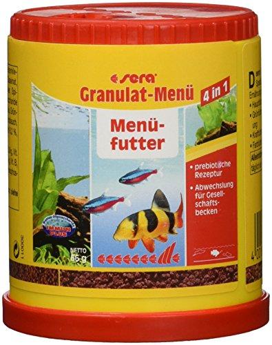 Sera 00070 Granulat-Menü 150 ml (4 in 1) für mehr Abwechslung im Gesellschaftsbecken