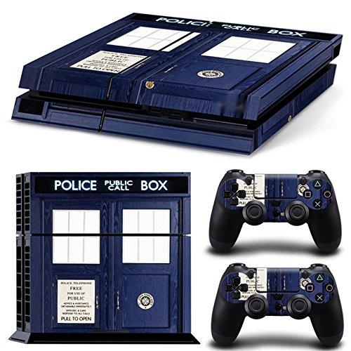 Morbuy Ps4 Skin Consola Design Foils Vinyl Pegatina Sticker And 2 Playstation 4 Dualshock Controlador Skins Set (Policía Caja)