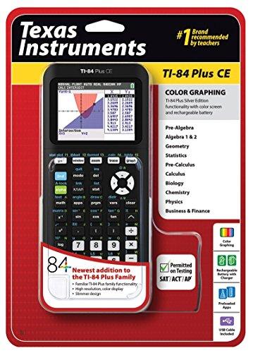 Texas Instruments TI-84 Plus CE Calcolatrice grafica, nero (increspato)