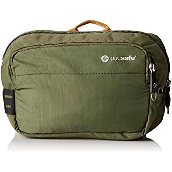 Pacsafe Hüfttasche Venturesafe 100GII Diebstahlschutz Hip Pack, Olive/Khaki (grün) - 60140