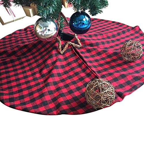 JUSTDOLIFE 4803in Weihnachtsbaum Rock Mode Plaid Print Tree Decor Rock Xmas Supplies