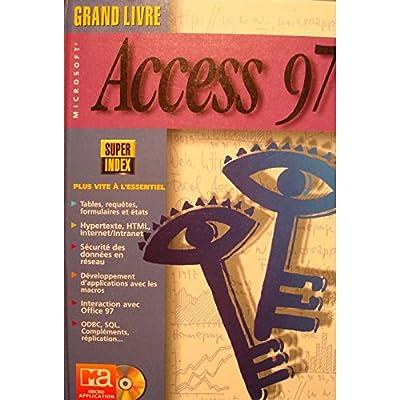 BAR/BAUDER grand livre access 97 MICRO-APPLICATION 1997 informatique
