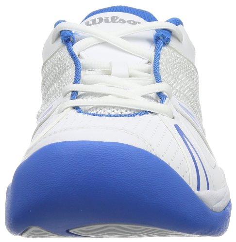 Wilson Open Junior WRS317820E115 Unisex-Kinder Tennisschuhe Mehrfarbig (White/Pool/White)