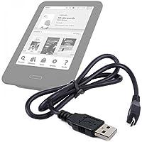 DURAGADGET Práctico Cable Micro USB De Sincronización De Datos para Libro electronico eReader Tagus Iris 2017 | inkBOOK Classic 2