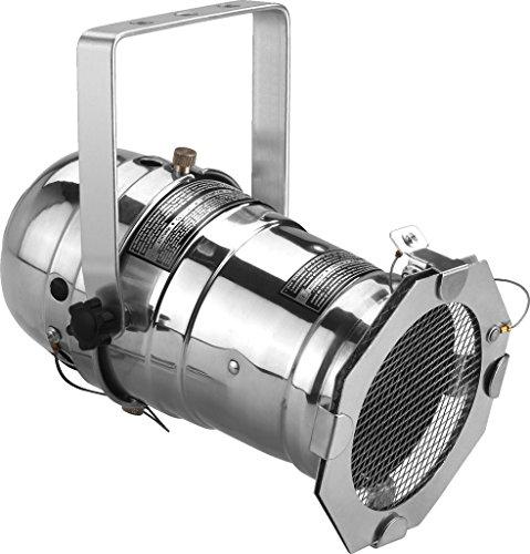IMG STAGELINE PAR-30/CR Scheinwerfergehäuse, Chrome, Vormontierter Kabelsatz, Zugentlastung, Lampenfassung, Vorsteck-Filterrahmen mit Splitterschutzgitter metallisch