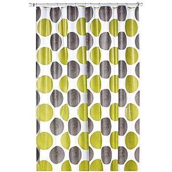 duschvorhang textil motiv retro quadrate farbe wei t rkis gr n und braun ma e 180 x. Black Bedroom Furniture Sets. Home Design Ideas