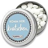 FLIRT MINT | Pfefferminz-Bonbons in Retro Metall-Dose | zuckerfrei für frischen Atem | liebes Geschenk für Freundin | vegan, mit Xylit