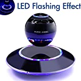 Levitating Bluetooth Speakers MUSIC ANGEL ® Multi-color LED Portable Wireless Bluetooth 4.0 Floating Levitation Maglev Speaker 360 Degree Rotating with Build in Microphone & Touchable Panel