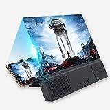 WXGZS dello Schermo del Telefono, Magnifier Cellulare 12 Pollici A Schermo Film Magnifier Staffa Amplificatore con Altoparlante Bluetooth di Vetro HD Stand