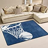COOSUN Basketball Hintergrund Bereich Teppich Teppich rutschfeste Fußmatte Fußmatten für Wohnzimmer Schlafzimmer 182.9 x 121.9 cm, Textil, multi, 72 x 48 inch