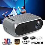Cewaal Hanbaili Hd Wireless LCD Projector Home Theater Video Projector Support 1080P Hdmi Led Home Cinema Projector Tablet Ipad Smartphone-Outdoor Indoor Movie Video Games Entertaint Black