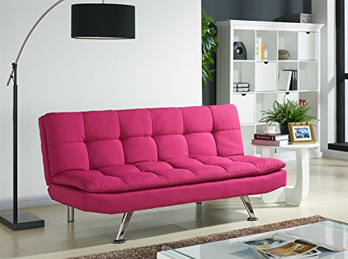 Luxurious Modern Fabric Sofa Bed with Chrome Legs, AVAILABLE in 5 ...