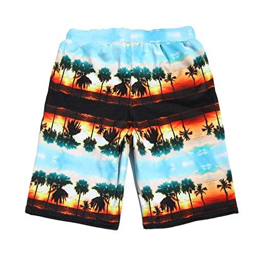 Beach Pants Shorts lose Boxer Größe schnelltrocknend Badehose Fünf Punkte Paar Beach Bademode seeblau