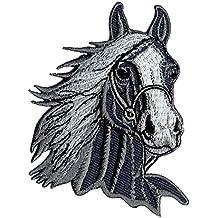 Coser-En la insignia / Hierro-En aplicación del parche a caballo en la cabeza de caballo