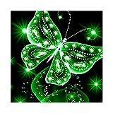 MagiDeal DIY Strass Kleben Diamant Stickerei Malerei Kreuzstich Handwerk Schmetterling Muster Farben zum Auswahlen - Grün, 25 x 25 cm