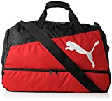 Puma Unisex Fußballtasche Pro Training, black/red/white, 57 x 30 x 36 cm, 60 liter, 072940 02