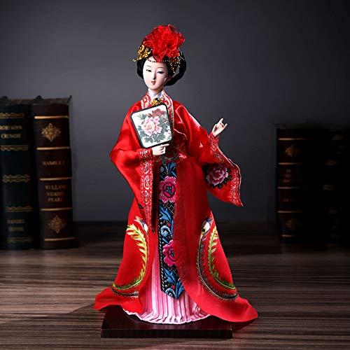 DDCYY Puppen Statue/Skulptur, Peking-Opernmaskenstatue, Antike Schriftzeichen, Geschenke Im Chinesischen Stil, Kunsthandwerk, Inneneinrichtung, Wohnzimmer, Schlafzimmer,L (Chinesische Antike Kostüm)