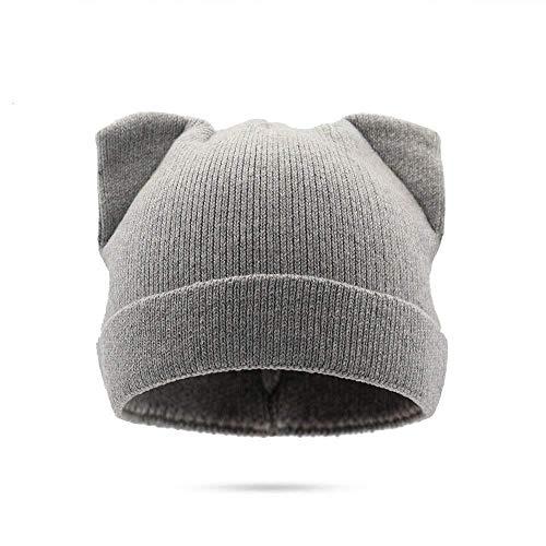 GZ Wolle Strickmütze Katze Ohren Winter Warme Linie Mode Niedlichen Stil Kappe Für Frauen,C,1