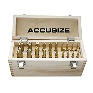 Accusize - Metric Size 20 Pcs HSS Tin Coated End Mills Set, 2 + 4 Flute Fully Ground, 1810-0104