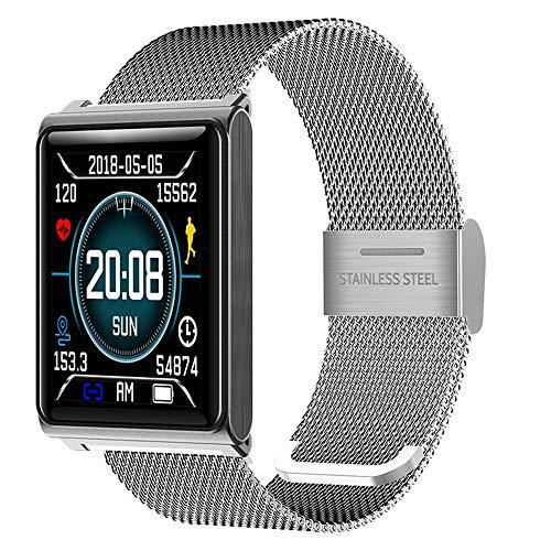 KFX N98 LCD Touchscreen IP68 Wasserdicht Schwimmen Fitness Tracker Bluetooth Smart Uhr mit Herzfrequenz-Blutdruckmessgerät Sport Tracker Schrittzähler für Android IOS