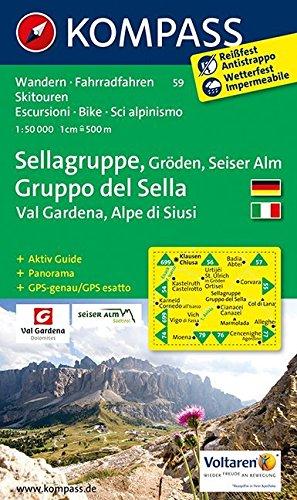 Sellagruppe 59 GPS wp kompass D/I Gröden-Val Gardena par Kompass-Karten