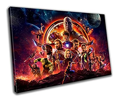 Avengers Infinity War Movie Canvas Print - Wall Art - Framed print - Ready To Hang - Canvas Print