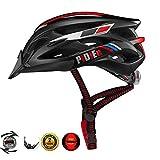 Pidien Fahrradhelm, Ultra Light Adult Helm mit verstellbarem Visier, CPSC-zertifizierter Fahrradhelm mit Rücklicht zum Schutz der Sicherheit