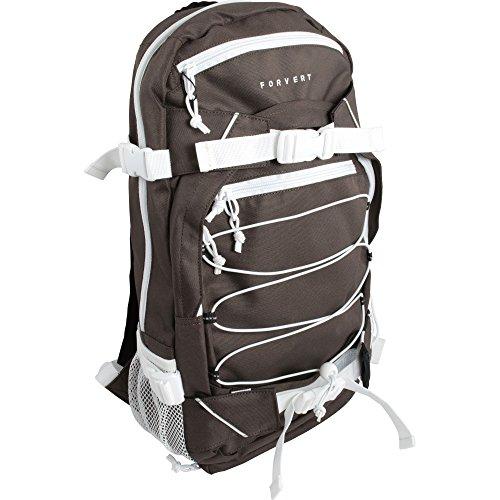 FORVERT Unisex Bag Ice Louis Sportlich-lässiger Daypack mit durchdachter Ausstattung in auffälligen Kontrastfarben, Braun (Dark Brown)