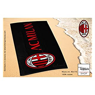 Strandtuch Sport Milan groß cm. 90x 170Original A.C. Milan