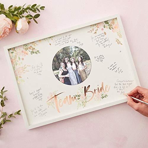 Ginger Ray Boho Guestbook Alternativo per Matrimoni Composto da Cornice in Legno