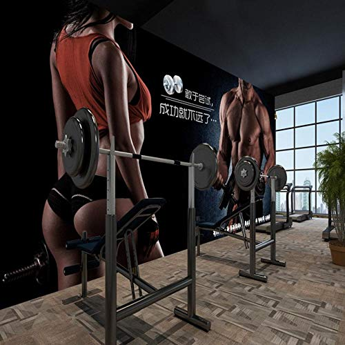 Benutzerdefinierte 3D-Wandbild Kreative Persönlichkeit Beauty Gym Yoga Museum Hintergrundbild Wandbild 400x280cm -