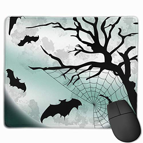 Deglogse Gaming-Mauspad-Matte, Smooth Mouse Pad Night Bats Halloween Mobile Gaming Mousepad Work Mouse Pad Office Pad