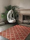 benuta Teppich Arabesque Orange 140x200 cm | Moderner Teppich für Wohn- und Schlafzimmer
