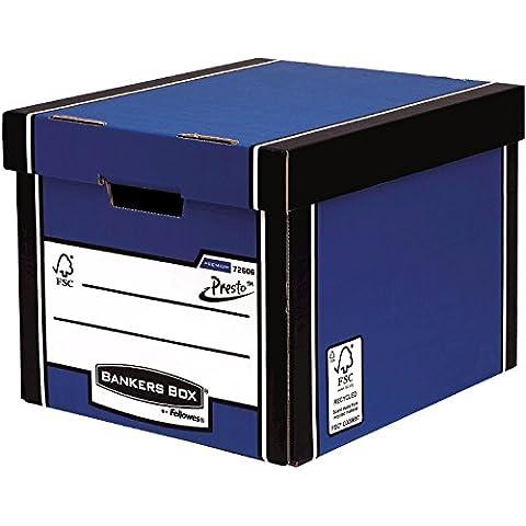 Fellowes Bankers Box Premium 726 - Caja de almacenaje (10 unidades), color azul y blanco