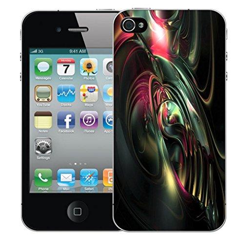 Nouveau iPhone 4 clip on Dur Coque couverture case cover Pare-chocs - I lone you bleu Motif avec Stylet imminent