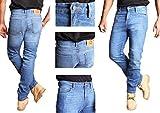 Herren Motorrad Hose. Motorrad-Jeans mit Aramid / Kevlar Futter. (40W x 32L)