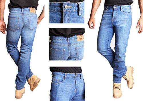 Herren Motorrad Hose. Motorrad-Jeans mit Aramid / Kevlar Futter. (30W x 32L)