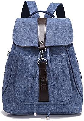 Minetom Lona Backpack Mochilas Escolares Mochila Escolar Casual Bolsa Viaje Moda Estilo De La Señora Mujer