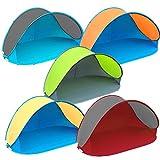Pop Up Strandmuschel mit Boden UV-Schutz 40 oder 60 - 220 x 120 x 100 - cm in verschiedenen Farben