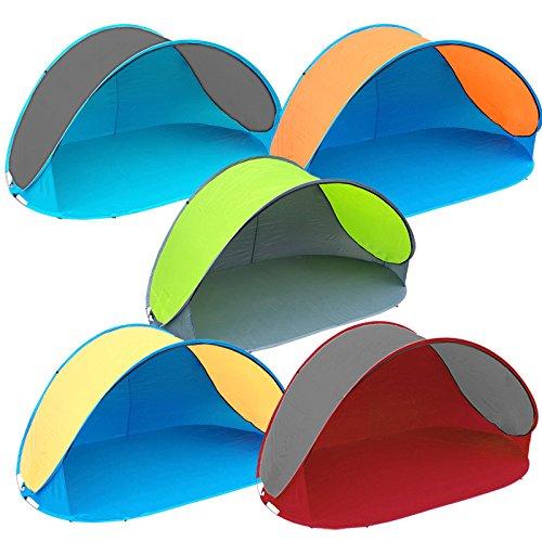 Pop Up Strandmuschel mit Boden UV-Schutz 40 oder 60 - 220 x 120 x 100 - cm in verschiedenen Farben Test