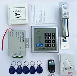 Imported 500-user RFID Access Control System Kit w/ Electric Lock ID Keyfob Doorbell