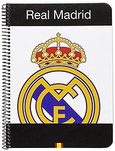 Real Madrid - Libreta cuarto, 80 hojas (Safta 511557065), surtido: modelos/colores aleatorios