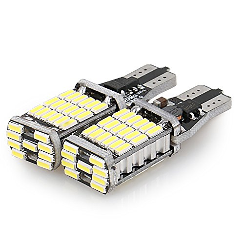BRAUTO 2x T10 Rücklicht Canbus 1000 lumen 45 LED Auto LED Backup Birne Lampe Rückfahrscheinwerfer (Led-rücklicht 7)