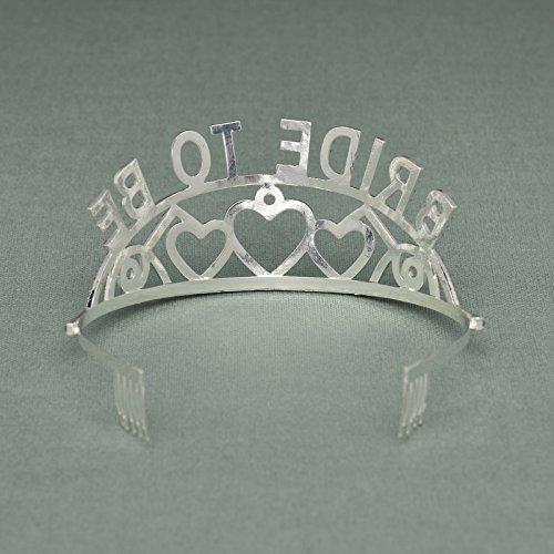 SWEETV Bride To Be Corona Tiara Diadema Tocado - Futura Novia – Fiesta de Despedida de Soltera, Rosa