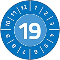 Avery Zweckform 6944 Test Badges (80 Labels with Year 2019 Diameter 30 mm 10 sheet, blue - ukpricecomparsion.eu