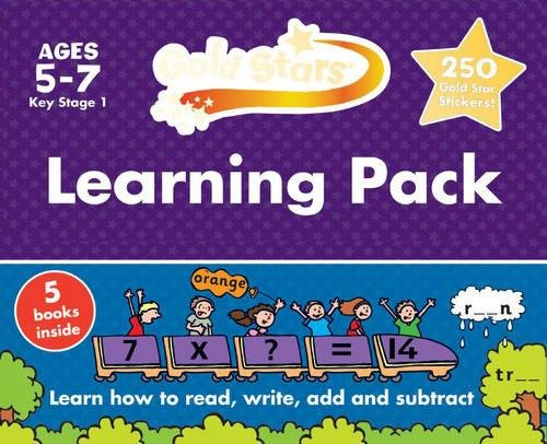 Gold Stars Learning Pack Ages 5-7 Key Stage 1: Learn How to Read, Write, Add and Substract (Gold Stars Ks1 Workbook Pack)