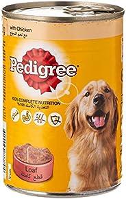 Pedigree Chicken Loaf, Wet Dog Food, Can, 24 x 400 gm